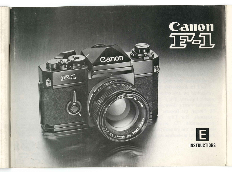A Canon F1 manual